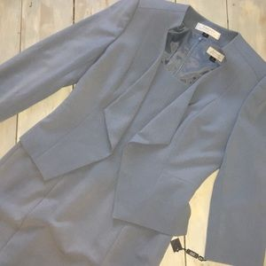 Tahari Levine Paris blue suit